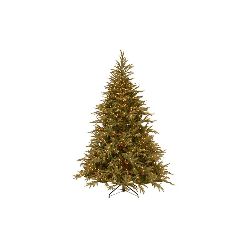silk flower arrangements national tree company 'feel real' pre-lit artificial christmas tree   includes pre-strung white lights and stand   frasier grande - 9 ft