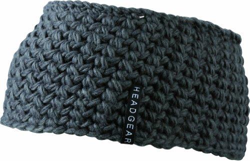 Myrtle Beach Damen Stirnband Crocheted Headband, Carbon, One Size, MB7947 cb