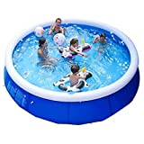 EPROSMIN Inflatable Ground Swimming Pool- 10 FT Outdoor Swimming Pool - Suitable for Adults, Kids, Toddlers- Fun Water Pool Party for Garden, Backyard- Anti-Tear & Anti-Riot Sun