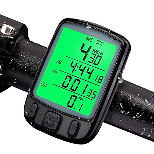 LZJDS Wired Bicycle Computer, Multi-Function Waterproof Bicycle Speedometer with Backlit Digital Display, for Bicycle Enthusiasts