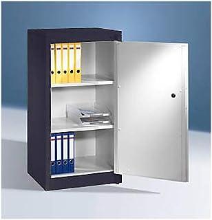 CP Armoire de sécurité - 2 tablettes réglables - gris noir / gris clair - Armoire Armoire coffre-fort Armoires Armoires co...