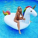 Dracarys Jouet de Licorne Gonflable géant - Lit Flottant de Piscine - Chaise de récréation générale et pour Adultes et Enfant (Petit)