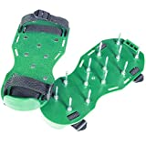 Garden Lawn Aerator Sandals - Used for Encouraging Root Development of Healthier Gardens - No Need to Bend Over - Green