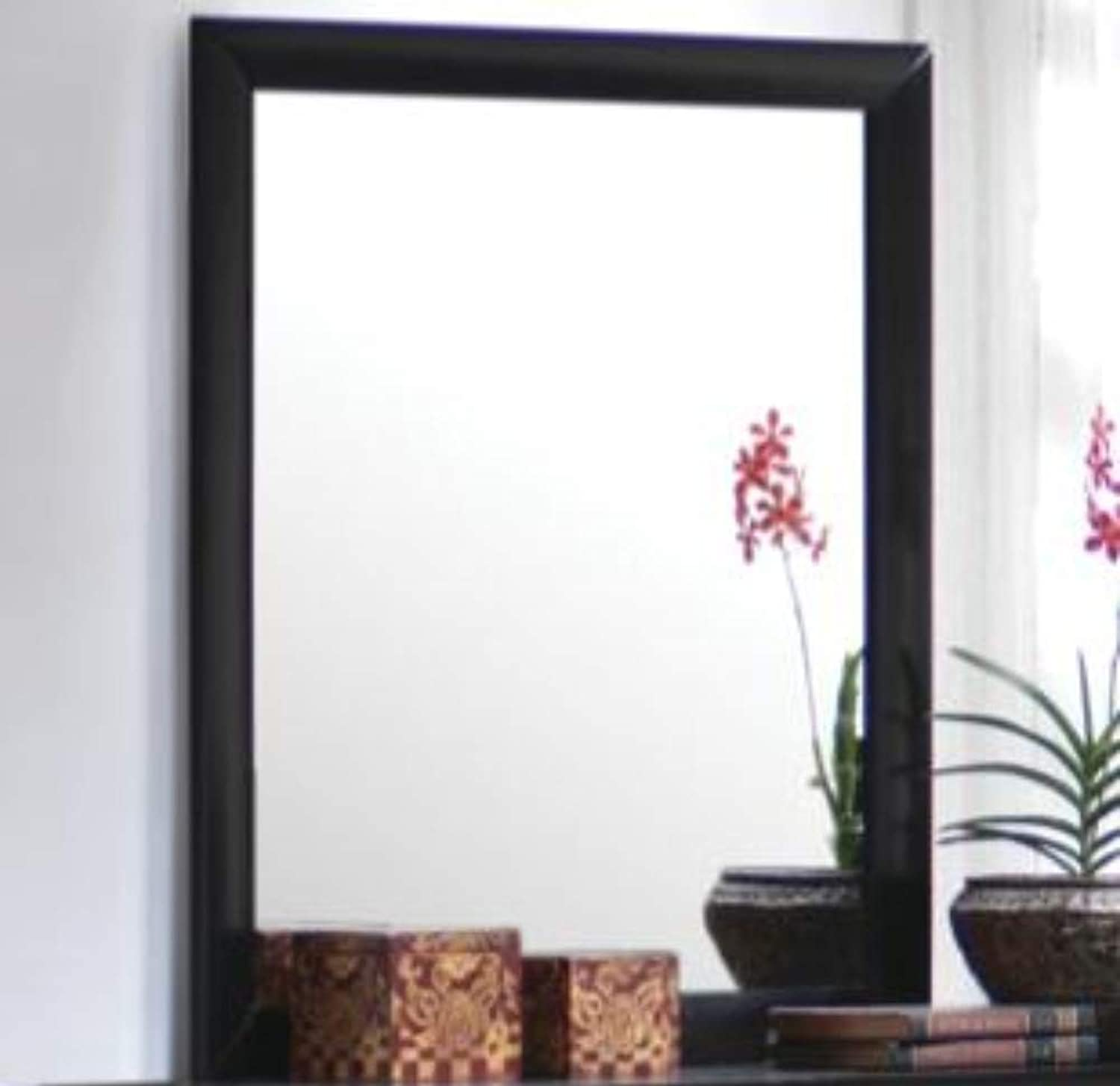 Benzara Contemporary Landscape Mirror, Black