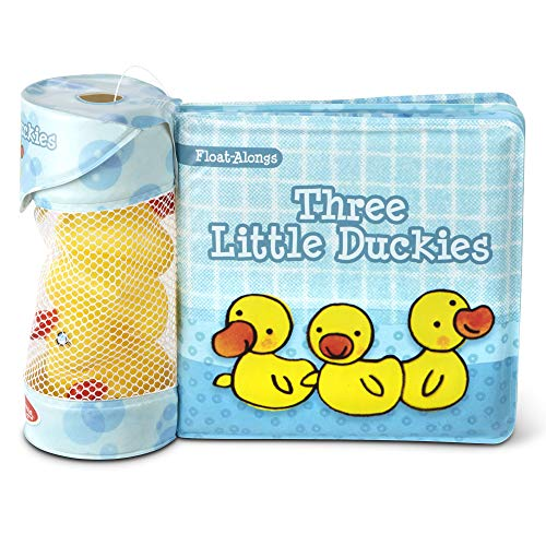 Melissa & Doug Children's Book - Float-Alongs: Three Little Duckies (Bath Book + 3 Floating Duck Toys), Great Gift for Girls and Boys - Best for Babies and Toddlers, 3 Month Olds, 1 and 2 Year Olds