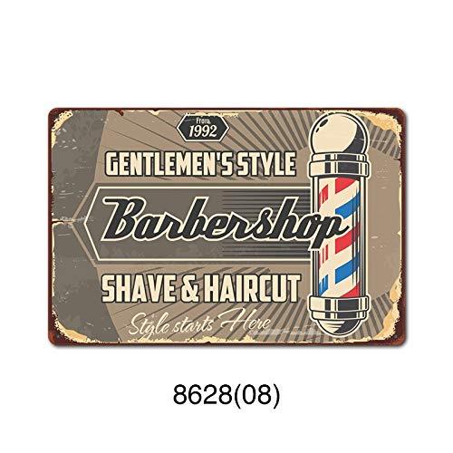 GVFDNTFRF Cartel de Chapa de barbería, Herramienta Vintage, Cartel de Placa de hojalata, Placas Decorativas de Metal, Pegatinas de Pared de Cueva para Hombres, 20x30cm 6