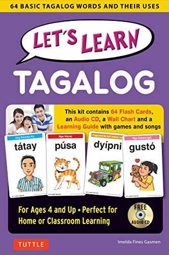 Let's Learn Tagalog Kit: A Fun Guide for Children's Language Learning (Flash Cards, Audio CD, Games & Songs, Learning Guide and Wall Chart)