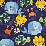 MAGAM-Stoffe Unterwasserwelt Kinder Stoff Oeko-Tex