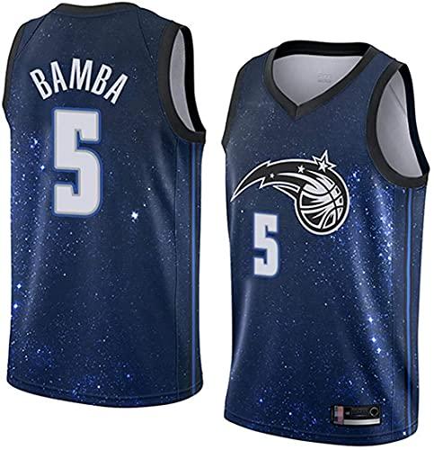 XSJY Jersey De Los Hombres De La NBA - Orlando Magic # 5 MO Bamba Edition Jersey, Unisex Retro Bordado Malla Jersey,A,XL:180~185cm/85~95kg