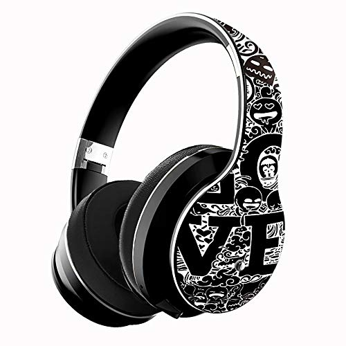 ZKUROZOXY B1 - Auriculares Bluetooth con micrófono sobre la oreja, auriculares inalámbricos de graves profundos, con micrófono integrado, modo de cable para PC, teléfonos móviles y TV