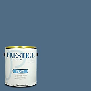 Prestige Paints P100-D-SW6523 Interior Paint and Primer in One, 1-Gallon, Flat, Comparable Match of Sherwin Williams Denim, 1 Gallon, SW62-Denim