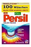 Persil Color Pulver (100 Waschladungen), Colorwaschmittel mit Tiefenrein-Plus Technologie bekämpft hartnäckigste Flecken, Waschpulver für leuchtende Farben