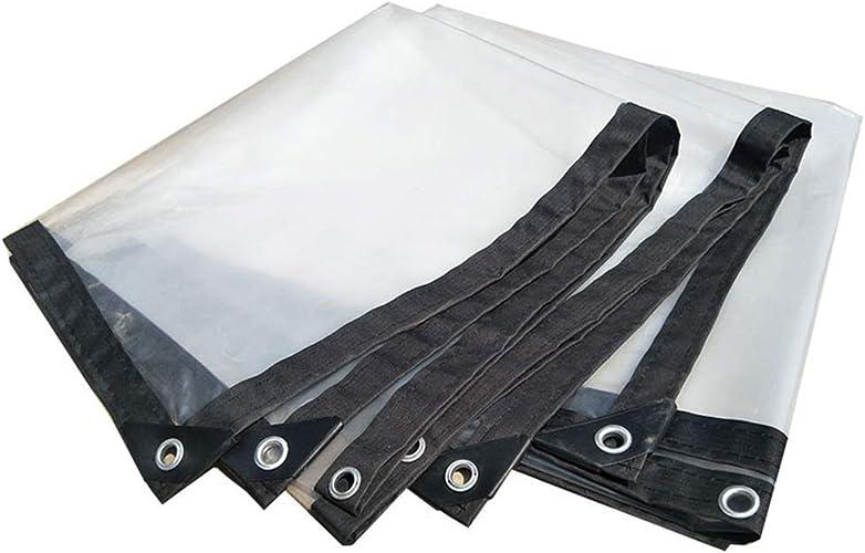 MRY Bache en plastique épaississante transparente imperméable résistante de tente de bache, taille personnalisable,CLAIR,2  3M