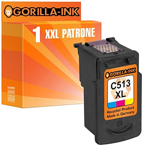 Gorilla-Ink 1 Druckerpatrone für Canon CL-513 XL | Color 30ml XXL-Inhalt