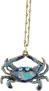 Anne Koplik Crab Necklace, Gold Plated Multicolor Pendant