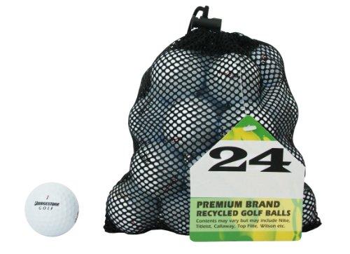 Second Chance Golf Lakebälle Bridgestone 24 Premium Grade A, weiß, PRE-24-MESH-BRI