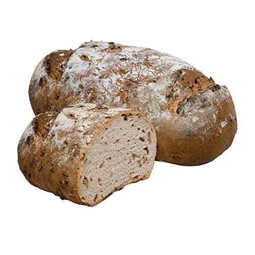 Vestakorn Handwerksbrot, Zwiebelbrot 750g - frisches Brot – Natursauerteig & Zwiebeln, selbst aufbacken in 10 Minuten
