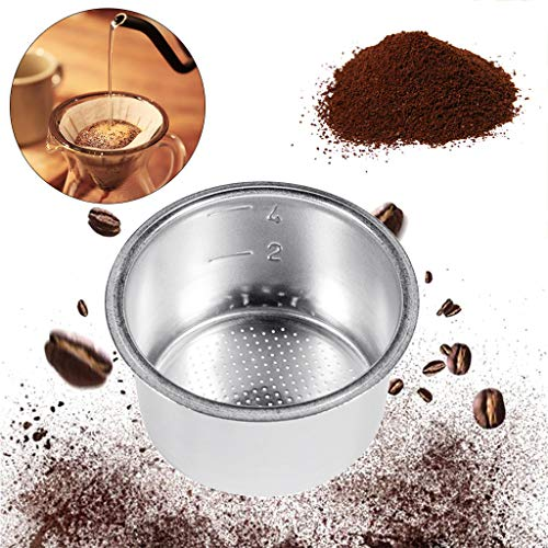 51mm 4 Cups Filter Replacement Filter Basket for Coffee Bottomless Portafilter For Delonghi EC680/EC685 Espresso Machine Parts 4.0