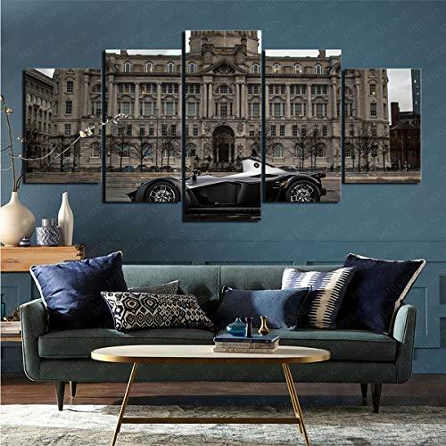 mmkow Dibuja 5 Piezas de Carro BAC Mono en la Imagen.Decoración del hogar decoración decoración Regalo 50x100cm (Marco)