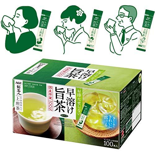 スマートマットライト AGF 新茶人 宇治抹茶入り上煎茶 スティック 100本 【 お茶 スティック 】【 粉末緑茶 】【 ティーバッグ不要 】