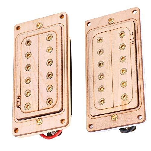 Micro manche chevalet Humbucker durable pour les amateurs de musique. pour LP SG Jazz Guitar(Gold core and screws)