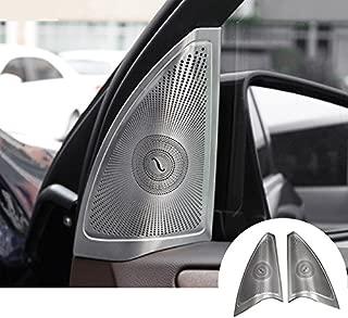 HOTRIMWORLD Interior Car Door Audio Speaker Frame Trim Cover 2pcs for Mercedes-Benz GLS Class X166 2015-2019