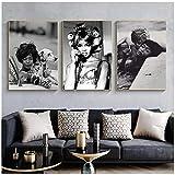 MZYZSL Naomi Campbell Poster Leinwand Wandkunst druckt
