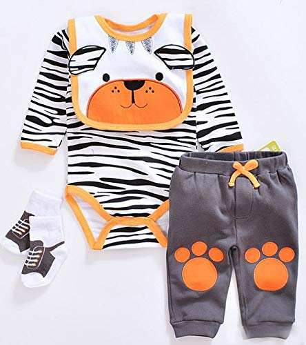 Medylove Reborn Baby Doll Clothes Set Boy for 20- 22 inch Reborn Doll Tiger Outfit Accessories 4 Pieces