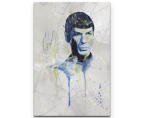 Paul Sinus Art Star Trek Mr Spock 90x60cm auf Leinwand gespannt fertig zum aufhängen
