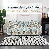 Solguay™ Funda Elástica Universal para Sofá, 16 Estilos Tres PLAZAS (185-230CM) Gris Oscuro