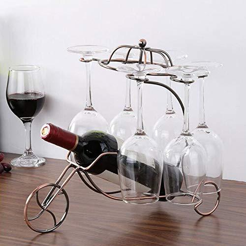 Botellero vintage de acero inoxidable para botellas de vino, soporte para botellas de vino, decoración de barra de cocina, regalo (color: natural)