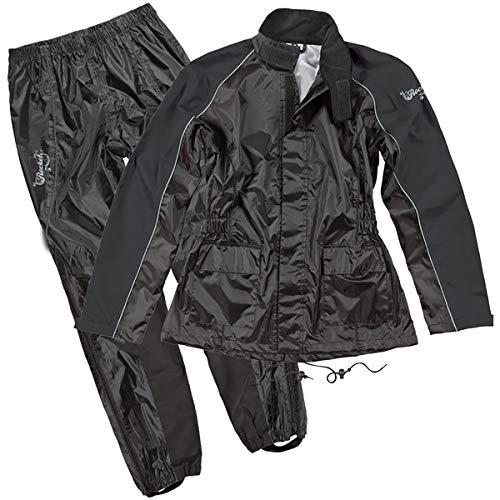 Joe Rocket RS-2 Women's 2-Piece Street Motorcycle Rain Suits - Black/Black/Large