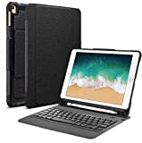 "OMOTON Detachable Keyboard Case for New iPad 9.7"" 2018&2017, iPad Pro 9.7, iPad Air 1 / Air 2 9.7', Ultra-Thin Bluetooth Keyboard Case with Built-in Stand and Pencil Holder, Lightweight, Black"