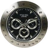 Pusher Orologio Crono Reloj Classic D34Fondo Nero/3Argento Quadranti