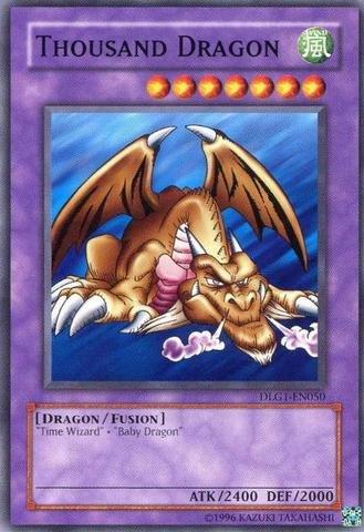 Yu-Gi-Oh! - Thousand Dragon (DLG1-EN050) - Dark Legends - Unlimited Edition - Common