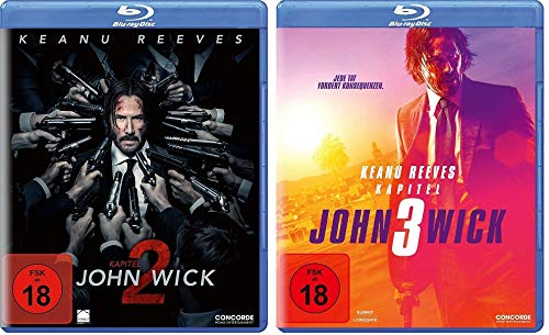 John Wick Kapitel 2 + Kapitel 3 im Set - Deutsche Originalware [2 Blu-rays]