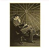MXIBUN Berühmte Wissenschaftler Nikola Tesla Retro Poster