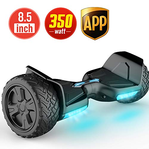 TOMOLOO Hoverboard Bluetooth LED Lights Two-Wheel Self Balancing...