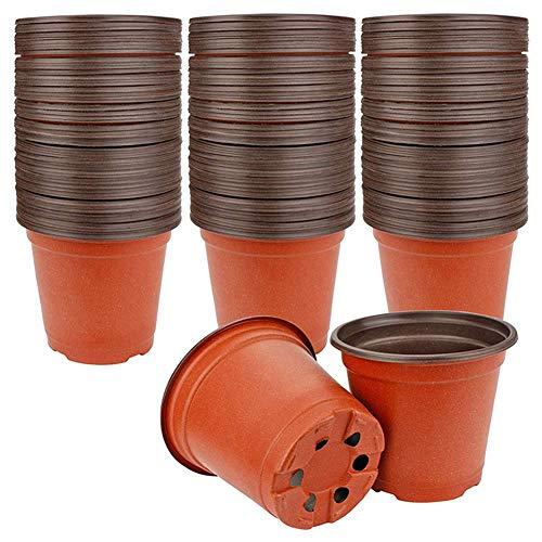 Jacqu , Bicolor, Flower Pot, Simple Plastic Nursery Pots, para plantas Succulent Plants Seed Starting Pot-100pcs