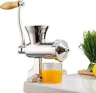NEWTRY 手挽きジューサー 小型ジューサー 家庭用 304#ステンレス製 DIY 手しぼり器 ハンドジューサー ジンジャー、小麦の草、ブドウ、アップル、ザクロ、オレンジなど用 妻、母親への最高のプレゼント