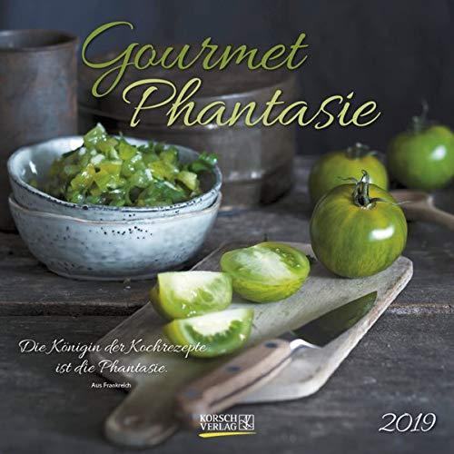 Gourmet Phantasie (BK) 228719 2019: Broschürenkalender mit Ferienterminen. Wandkalender als Küchenkalender mit literarischen Zitaten. 30 x 30 cm