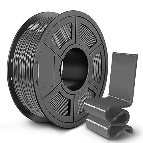 SUNLU PETG 3D Printer Filament, 3D Printing PETG Filament 1.75 mm, Strong 3D Filament, 1KG Spool (2.2lbs), Grey