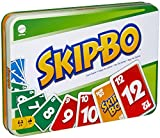 Mattel Games Skip Bo Card Game in Decorative Tin with 162 Cards, Sequencing Family Game for 2 to 6 Players,...