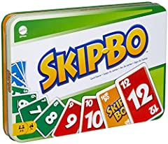 Item arrives in frustration-free, easy-to-open packaging that's 100% recyclable. For a gift-ready box, select 'Ship in Amazon packaging' at checkout. Keep your game closet organized with this special edition of Skip-Bo, the ultimate sequencing card g...