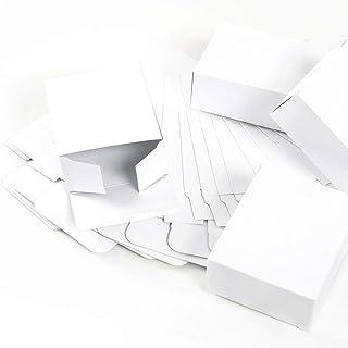 24Kleine blanca mini regalo Sombrereras (10x 4x 8cm)–Cajas de regalo Navidad del paquete para regalos de Navidad, cajitas para calendario de Adviento Manualidades como del paquete Regalos
