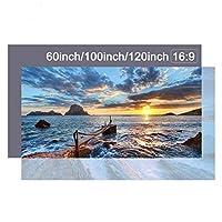 プロジェクタースクリーンプロジェクタースクリーン6084100インチ反射スクリーンプロジェクター用プロジェクションスクリーン投影用 ホームシアター (Size:84 Inch; Color:White)