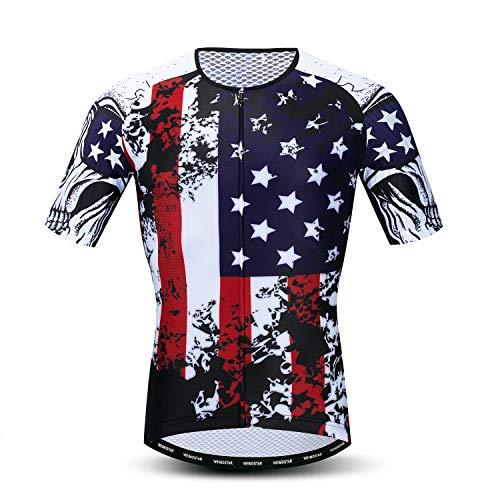 USA Cycling Jersey Men, Men's Racing Bike Shirt Tops S-XXXL