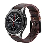 iBazal Bracelet Gear S3 Frontier Classic Montres 22mm Cuir Bandes Compatible avec Galaxy 46mm SM-R805/R800 Watch Band Remplacement...