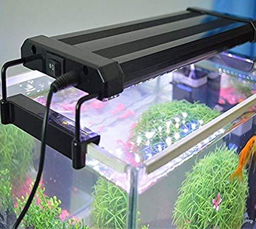 Asvert Lámpara de Acuario Luces LED 2 Modos de Iluminación para Acua