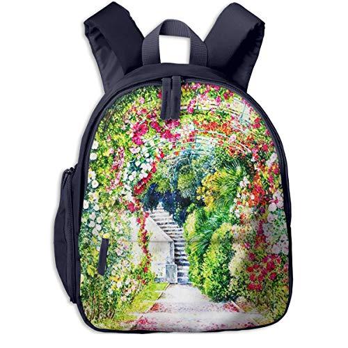 Kinderrucksack Kleinkind Jungen Mädchen Kindergartentasche Baumblume Gartengras Backpack Schultasche Rucksack